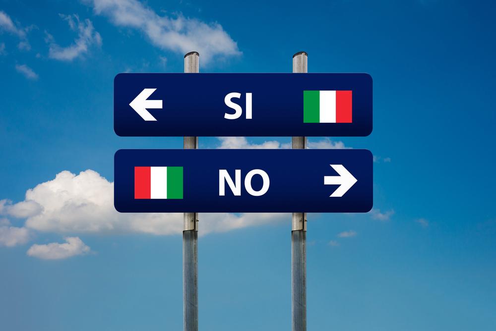 Referendum italiano: attendere e posizionarsi controcorrente