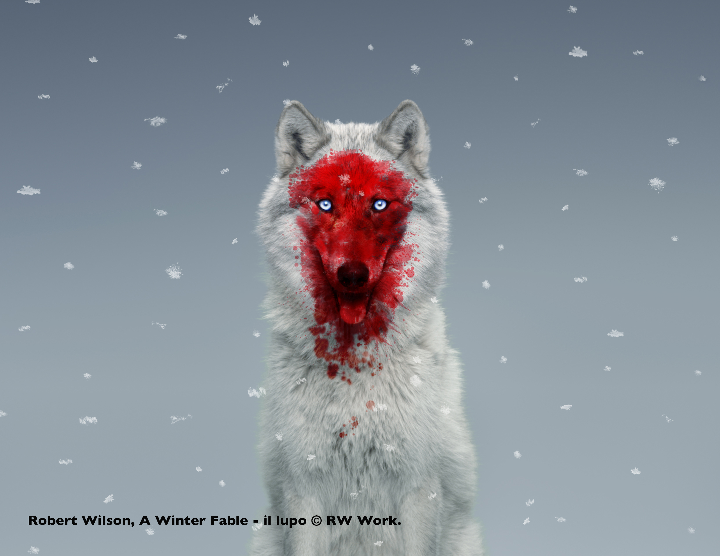 Robert Wilson, A Winter Fable - il lupo © RW Work.