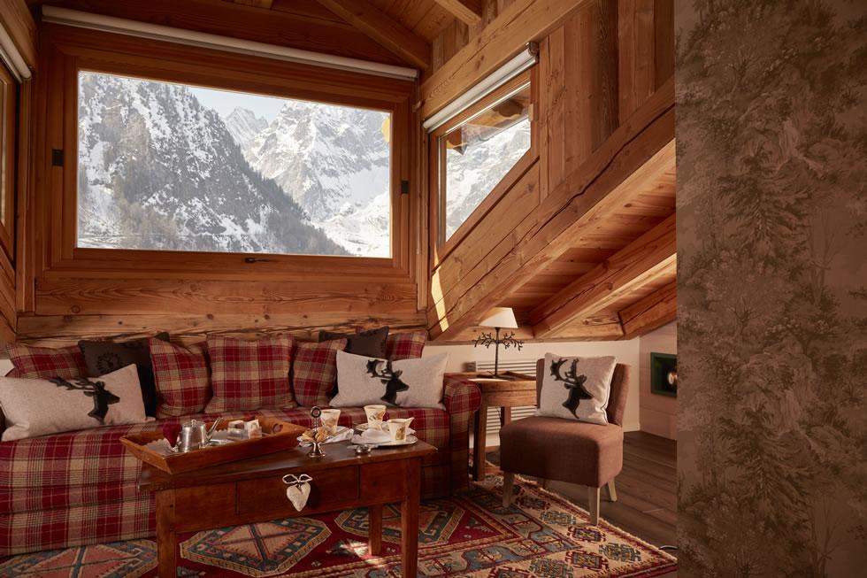 Una splendida vista sul Monte Bianco