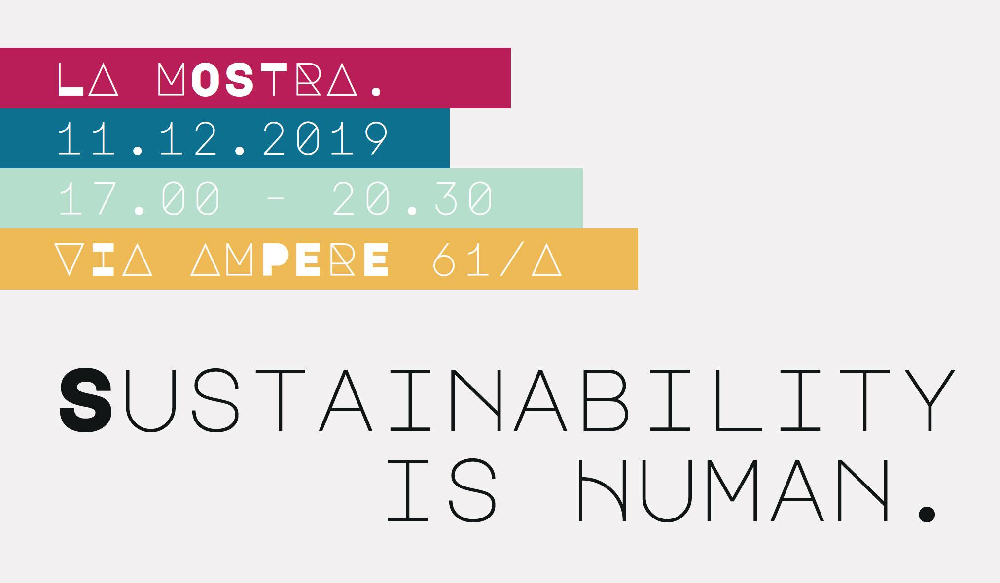 Sustainability is Human. La sostenibilità sta dove stanno le persone