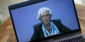 bce lagarde euro scende