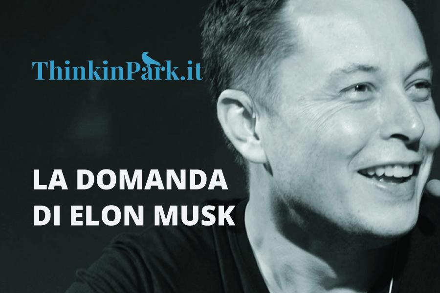 La domanda di Elon Musk